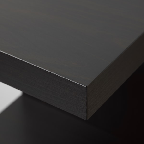 LACK وحدة رف حائط, أسود-بني, 30x190 سم