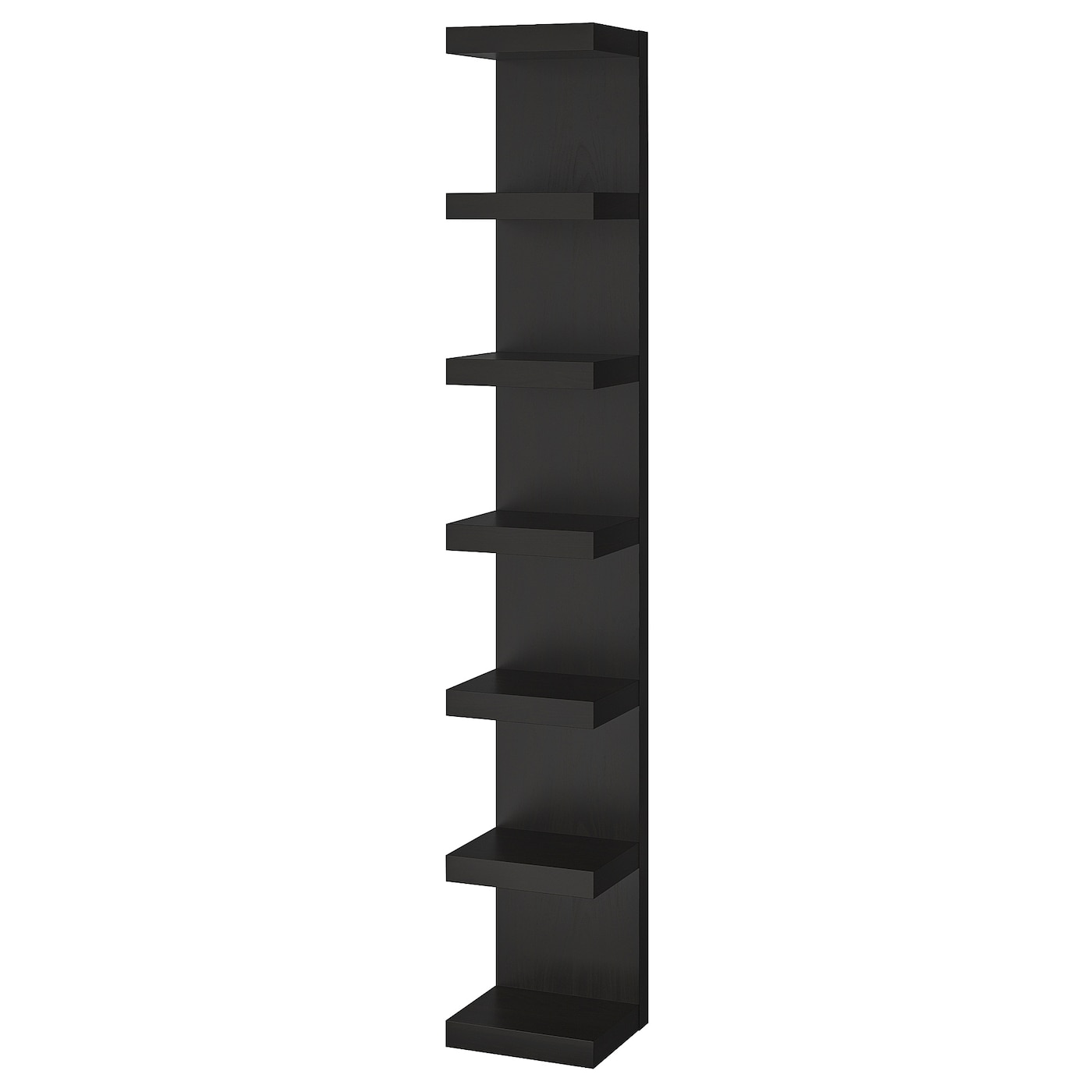 Lack Wall Shelf Unit Black Brown Ikea