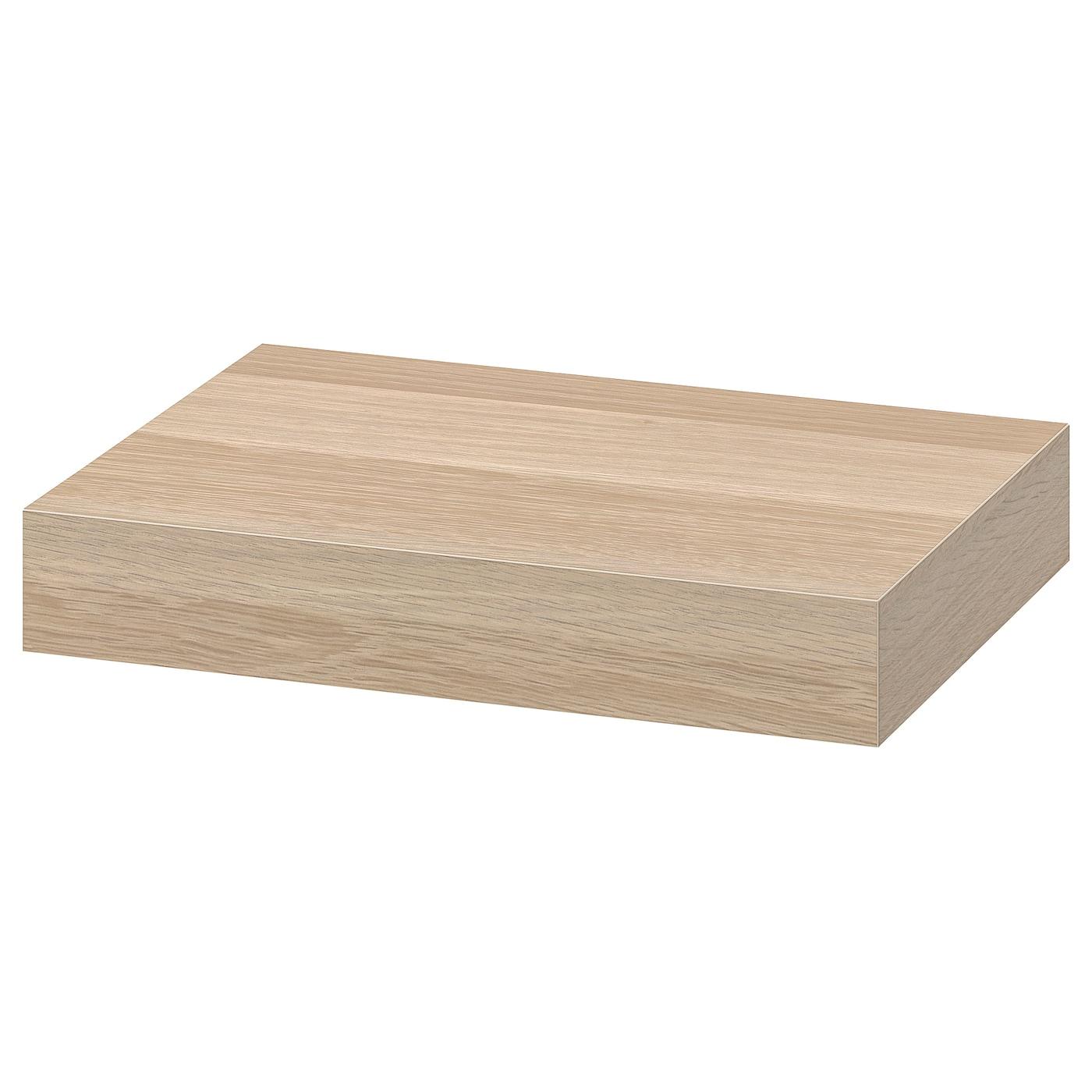 Wall Shelf Lack White Stained Oak Effect
