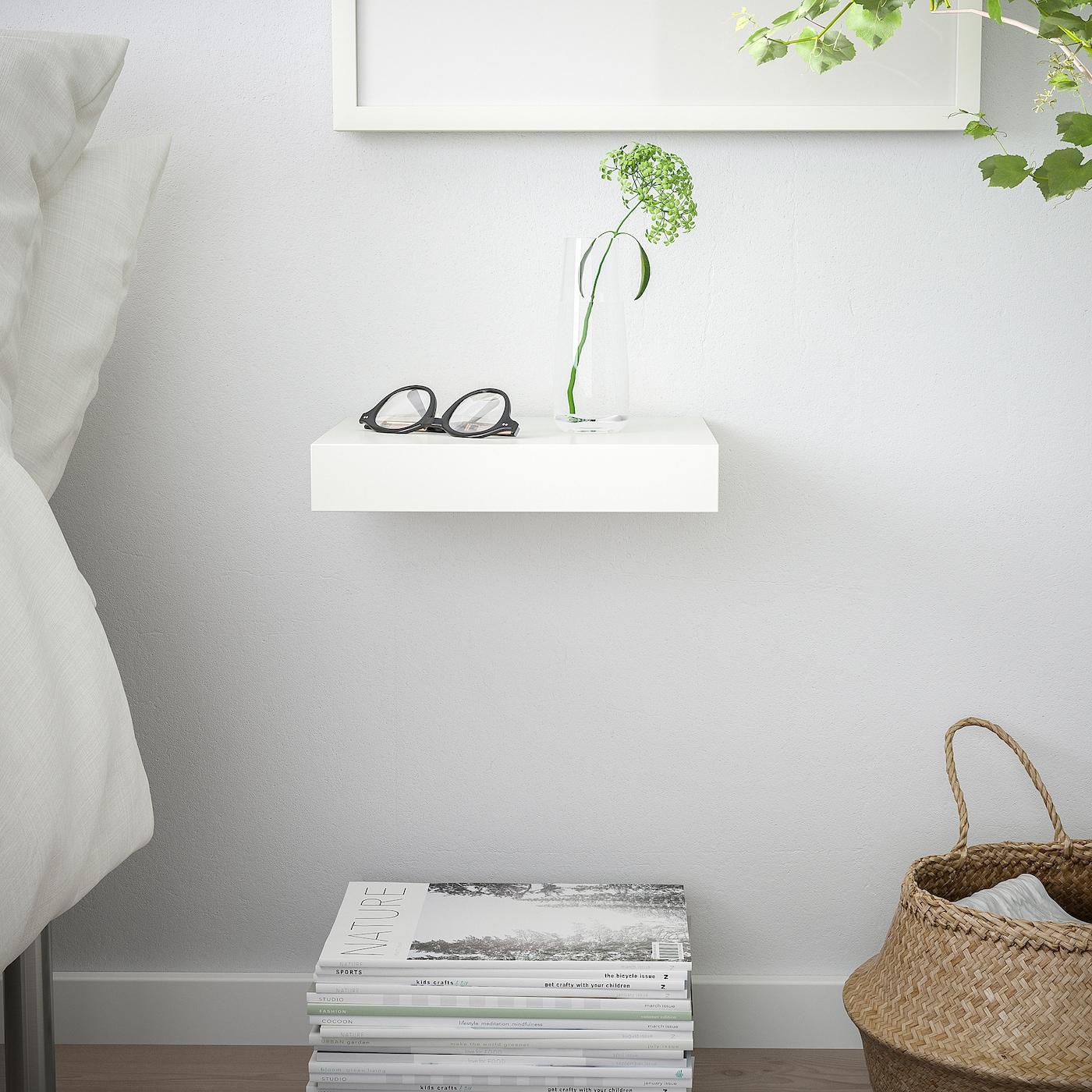 LACK Wall shelf - white 4x4 cm