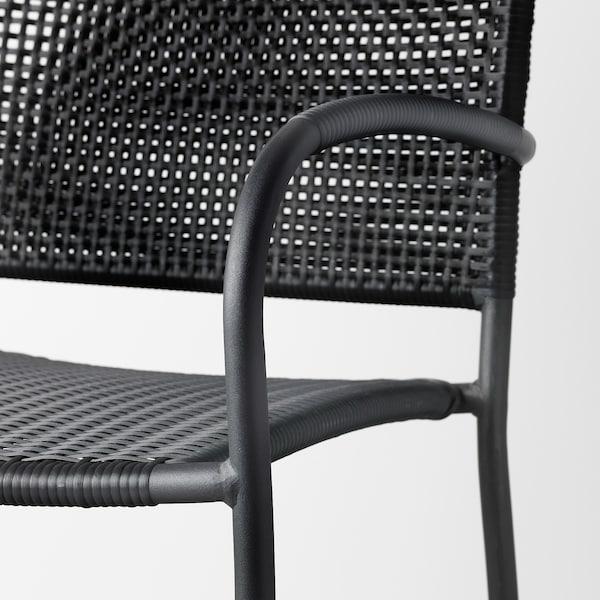 LÄCKÖ chair with armrests, outdoor grey 110 kg 56 cm 60 cm 82 cm 42 cm 42 cm 42 cm