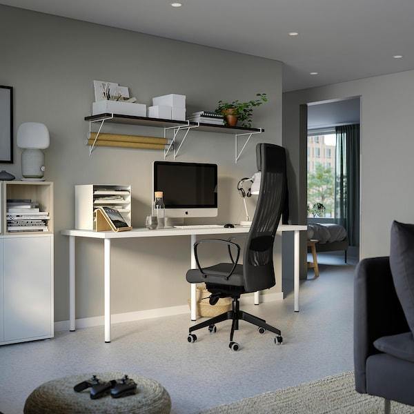 LAGKAPTEN / ADILS مكتب, أبيض, 200x60 سم