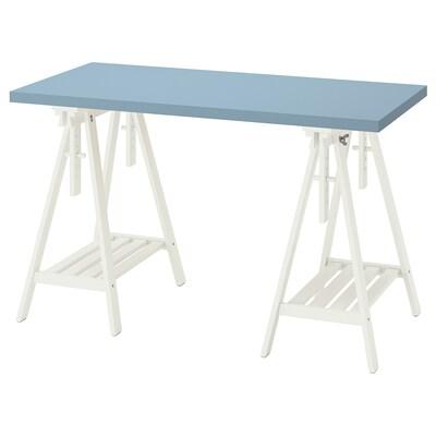 LAGKAPTEN / MITTBACK Desk, light blue/white, 120x60 cm