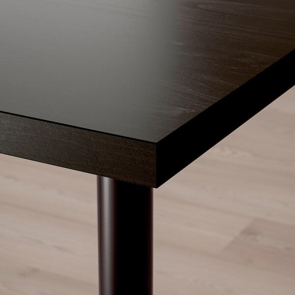 LAGKAPTEN / OLOV Desk, black-brown/black, 120x60 cm