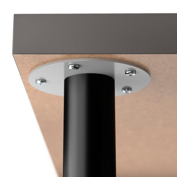 LAGKAPTEN / OLOV Desk, dark grey/black, 120x60 cm