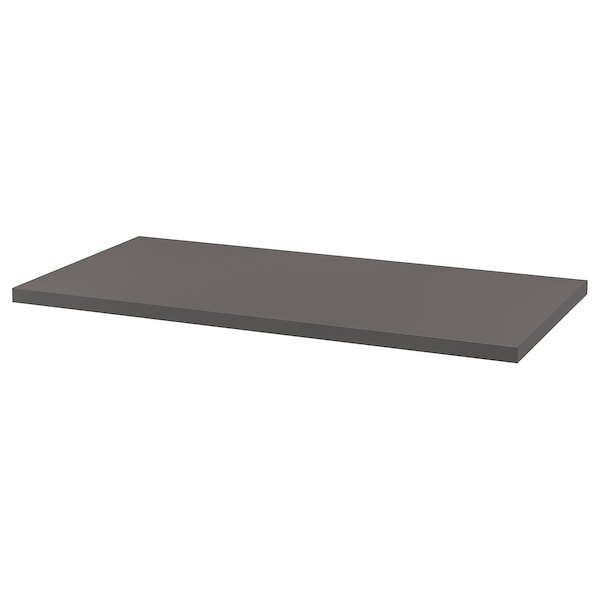 LAGKAPTEN / OLOV Desk, dark grey/white, 120x60 cm