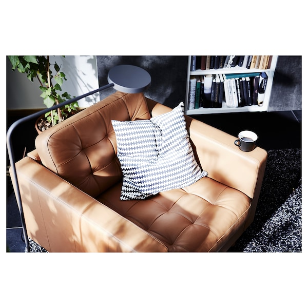 LANDSKRONA Armchair, Grann/Bomstad golden-brown/metal