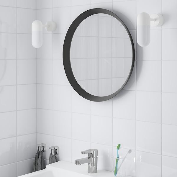 LANGESUND Mirror, dark grey, 50 cm