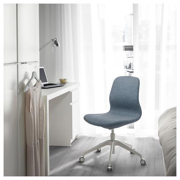 LÅNGFJÄLL Office chair, Gunnared blue/white