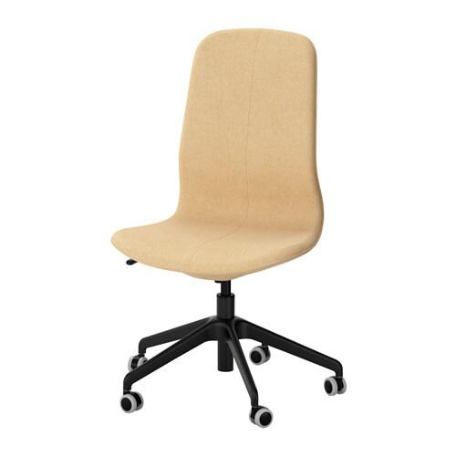 lÅngfjÄll swivel chair - gunnared yellow, black - ikea