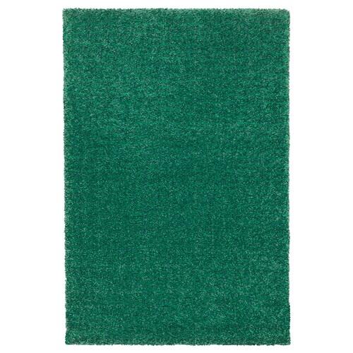 LANGSTED rug, low pile green 90 cm 60 cm 13 mm 0.54 m² 2500 g/m² 1030 g/m² 9 mm