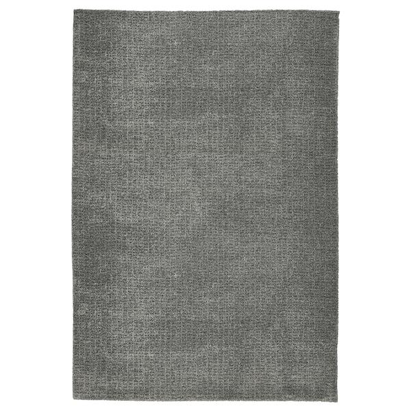 LANGSTED Rug, low pile, light grey, 133x195 cm