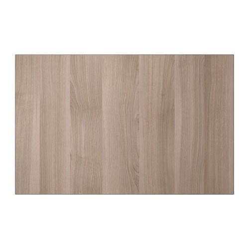 Lappviken door drawer front grey stained walnut effect - Walnut effect living room furniture ...