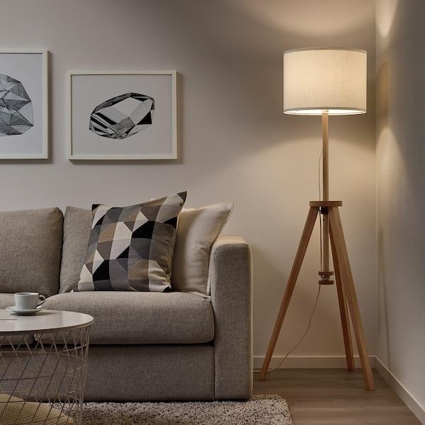 LAUTERS Floor lamp, ash/white