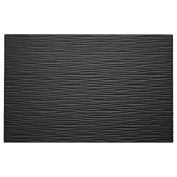 LAXVIKEN واجهة باب/وحدة أدراج, أسود, 60x38 سم