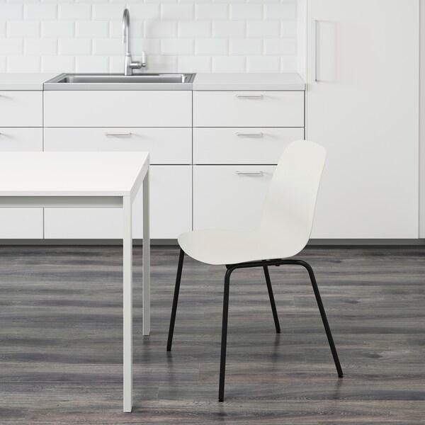 LEIFARNE كرسي, أبيض/Broringe أسود