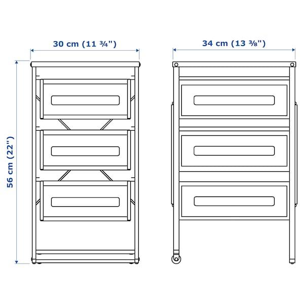 LENNART drawer unit white 30 cm 34 cm 56 cm 33 cm 5 kg