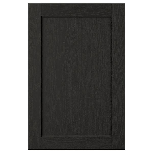 LERHYTTAN Door, black stained, 40x60 cm