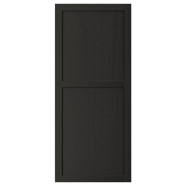 LERHYTTAN Door, black stained, 60x140 cm