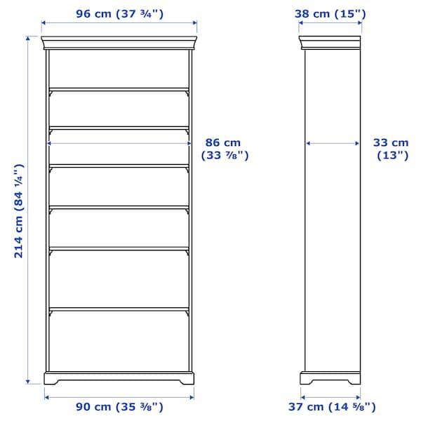LIATORP Bookcase, white, 96x214 cm