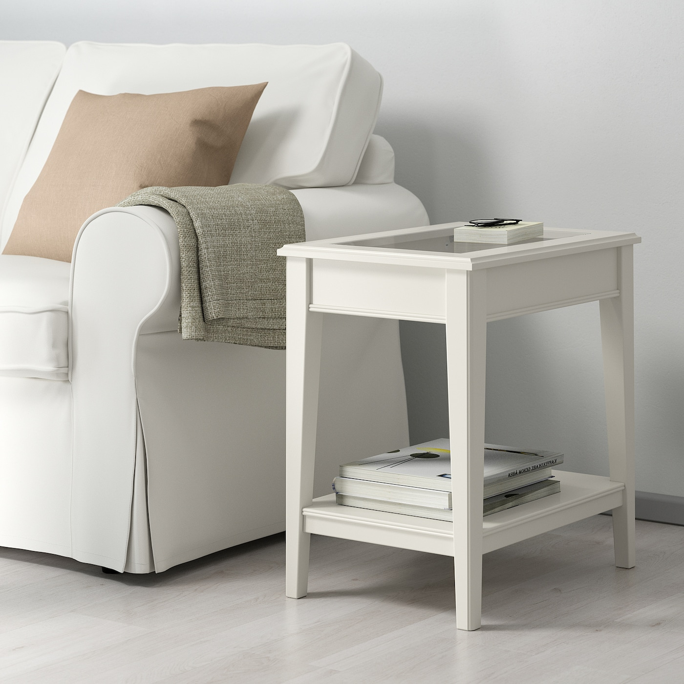 Liatorp Side Table White Gl