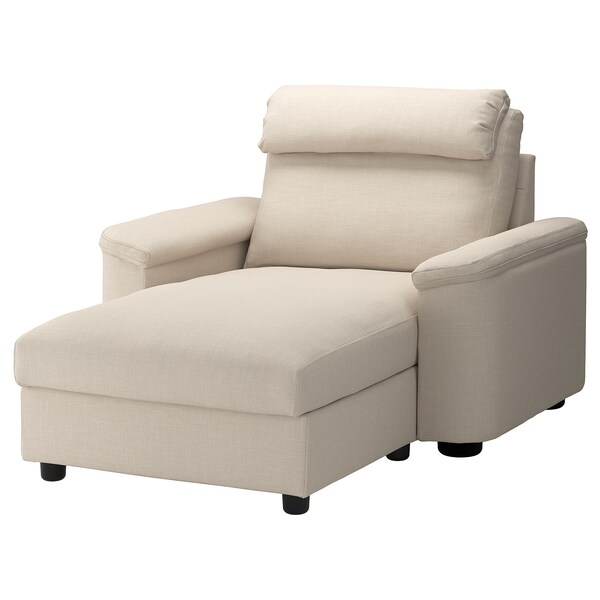LIDHULT Chaise longue, Gassebol light beige
