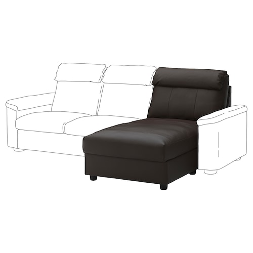 LIDHULT chaise longue section Grann/Bomstad dark brown 95 cm 74 cm 90 cm 164 cm 7 cm 90 cm 128 cm 42 cm