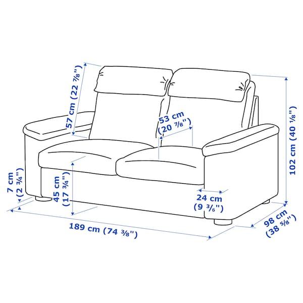 LIDHULT 2-seat sofa Gassebol light beige 102 cm 76 cm 189 cm 98 cm 7 cm 141 cm 53 cm 45 cm