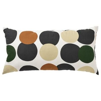 LIGUSTERFLY Cushion, white multicolour/dot pattern, 30x58 cm