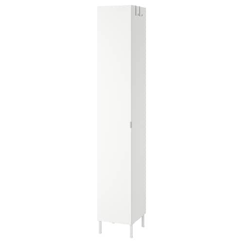 LILLÅNGEN high cabinet with 1 door white 30 cm 38 cm 189 cm