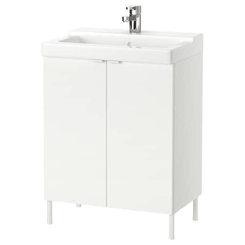 LILLÅNGEN / TÄLLEVIKEN washbasin cabinet with 2 doors white/Ensen tap 61 cm 41 cm 82 cm