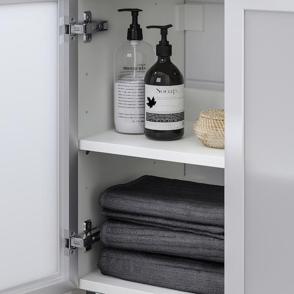 LILLÅNGEN / TYNGEN washbasin base cabinet with 2 door white/aluminium Pilkån tap 60 cm