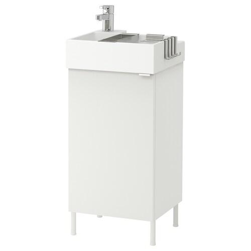 LILLÅNGEN washbasin cabinet with 1 door white/Ensen tap 41 cm 40 cm 41 cm 87 cm