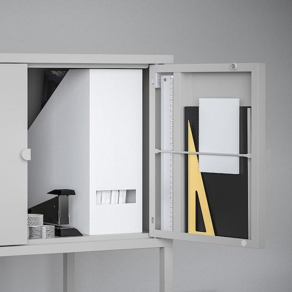LIXHULT خزانة, معدن/رمادي, 60x35 سم
