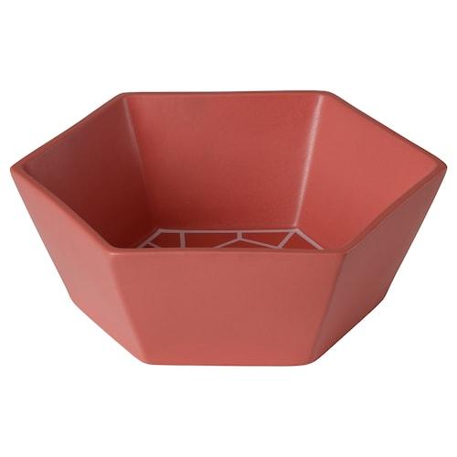 LJUV bowl red 30 cm 26 cm 10 cm