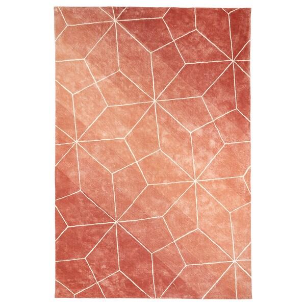 LJUV rug, high pile pink 300 cm 200 cm