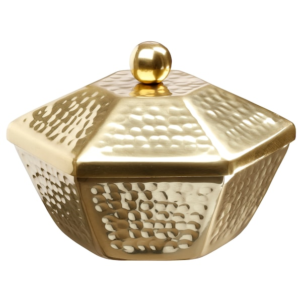 LJUVARE وعاء تقديم مع غطاء, لون ذهبي, 16 سم