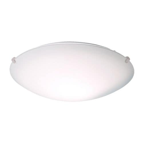 LOCK Ceiling lamp IKEA Frosted glass gives glare-free general light.