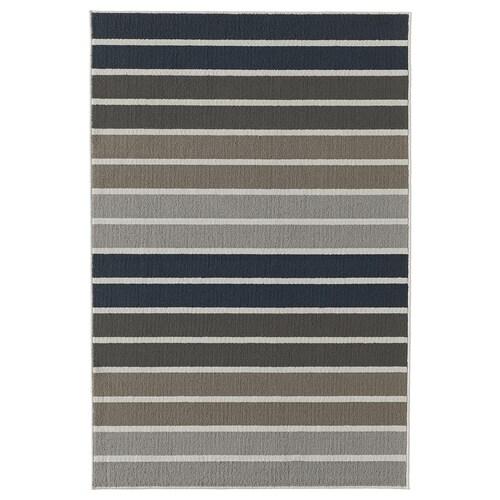 LUMSÅS rug, low pile grey/multicolour 180 cm 120 cm 8 mm 2.16 m² 980 g/m² 360 g/m²