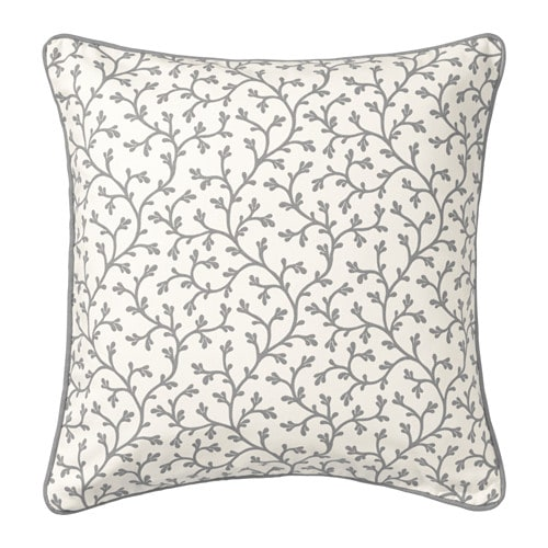 LUNGÖRT Cushion cover, grey, white