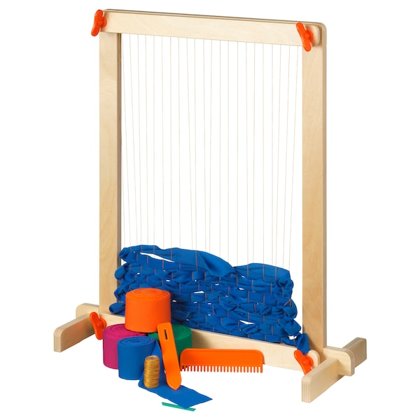 LUSTIGT 7-piece weaving loom set 50 cm 54 cm