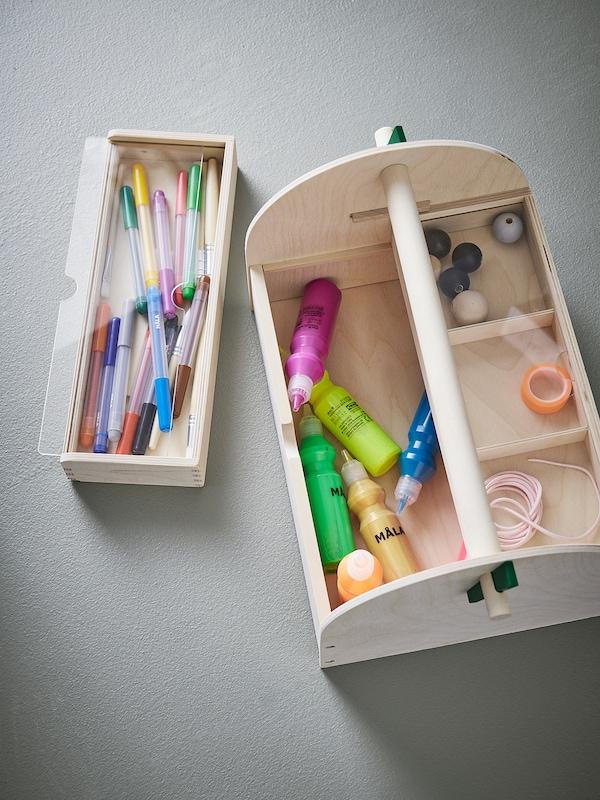 LUSTIGT Arts and crafts storage, wood