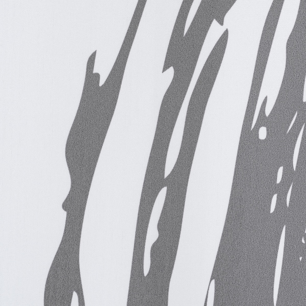 LYKTFIBBLA Shower curtain, white/grey, 180x200 cm