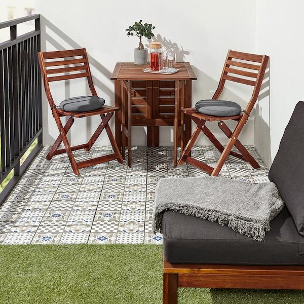 MÄLLSTEN Floor decking, outdoor, blue/white, 0.81 m²