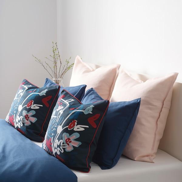 MÅLARBORSTE Cushion cover, dark blue/multicolour, 50x50 cm
