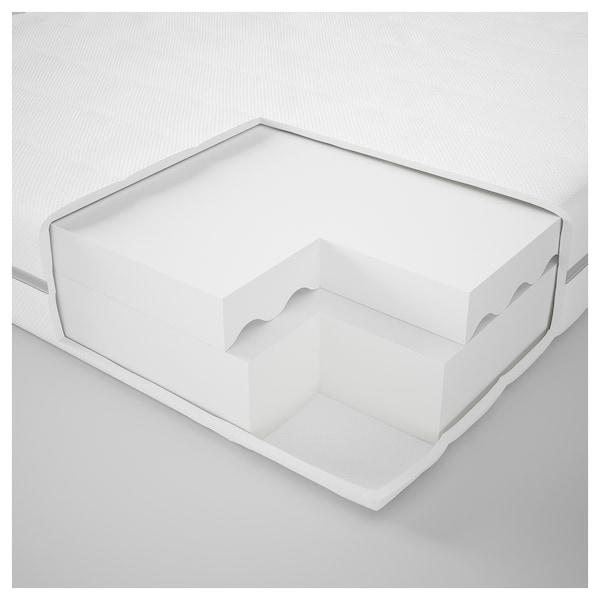 MALFORS foam mattress firm/white 200 cm 160 cm 12 cm
