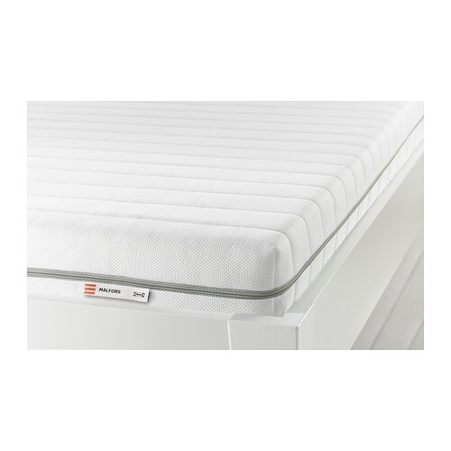 MALFORS Foam mattress IKEA Get all-over support and comfort with a resilient foam mattress.  This mattress is approved for children.
