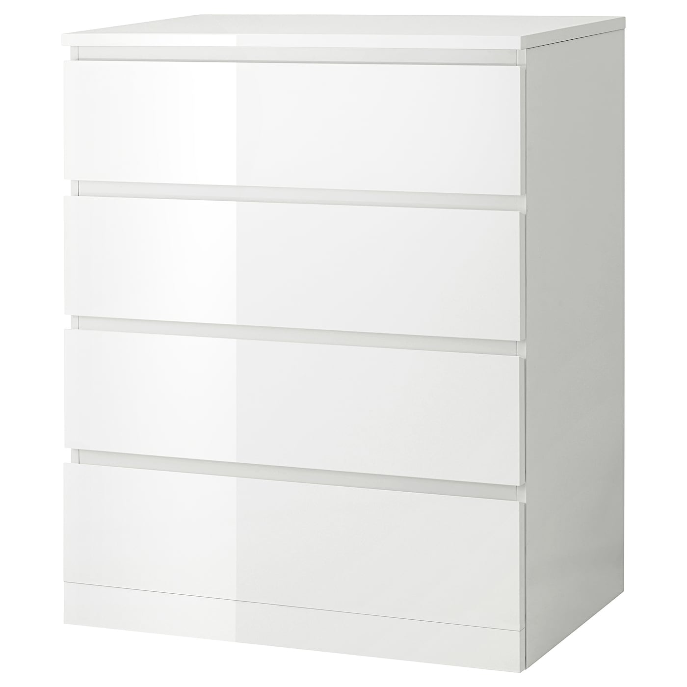 MALM Chest of 5 drawers - high-gloss white 5x5 cm