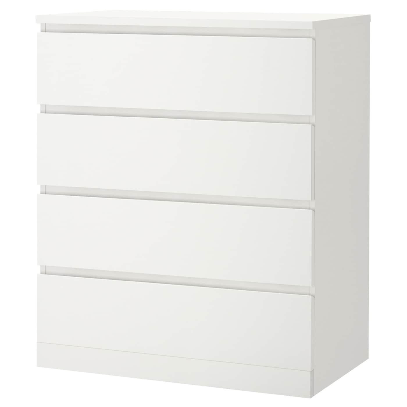 MALM Chest of 4 drawers - white 4x4 cm
