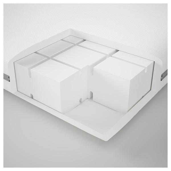 MALVIK Foam mattress, medium firm/white, 140x200 cm